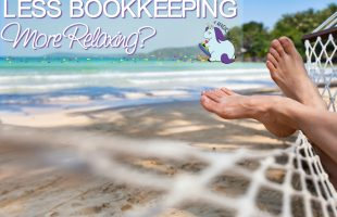 Easy bookkeeping means more relaxing, right? LOL
