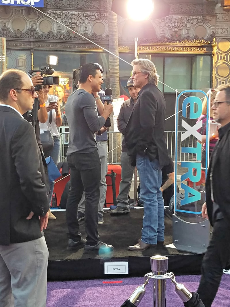 Mario Lopez and Kurt Russell at The Guardians of the Galaxy Vol. 2 world premiere
