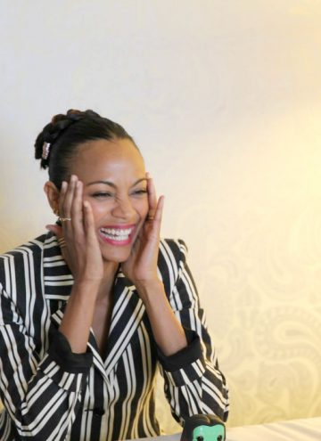 Zoe Saldana Tells Us about Being a Woman on the Set of Guardians of the Galaxy Vol. 2