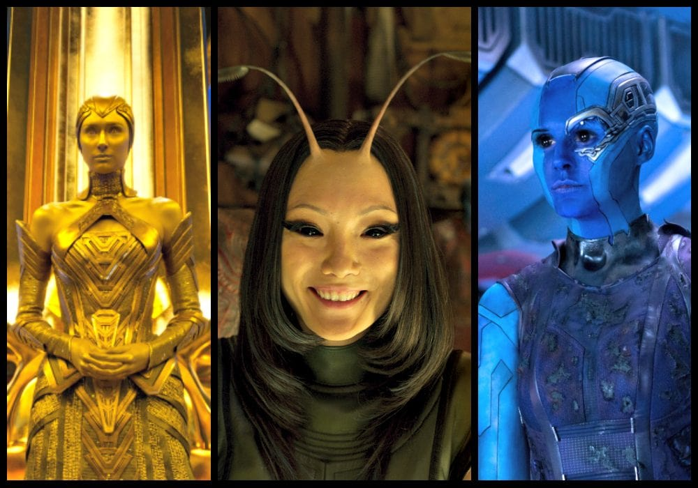 Ayesha, Mantis, and Nebula - An Intergalactic Threesome