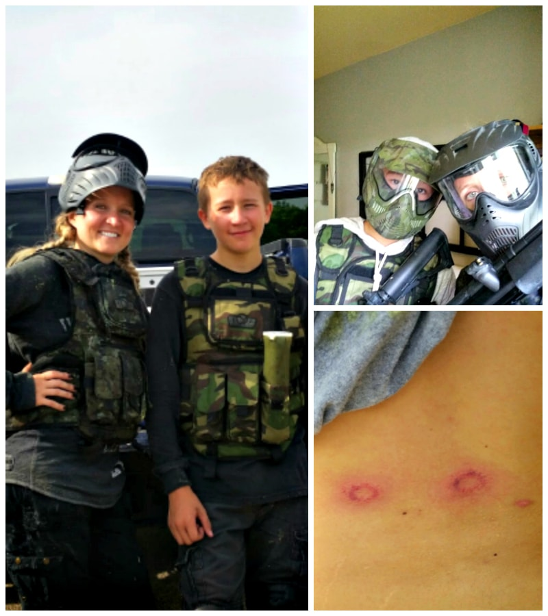 Parenting win - paintball party