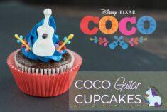 Adorable Disney Pixar Coco Inspired Guitar Cupcakes Recipe with Printables