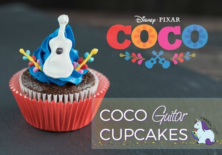 Adorable Disney Pixar Coco Inspired Guitar Cupcakes Recipe with Printables