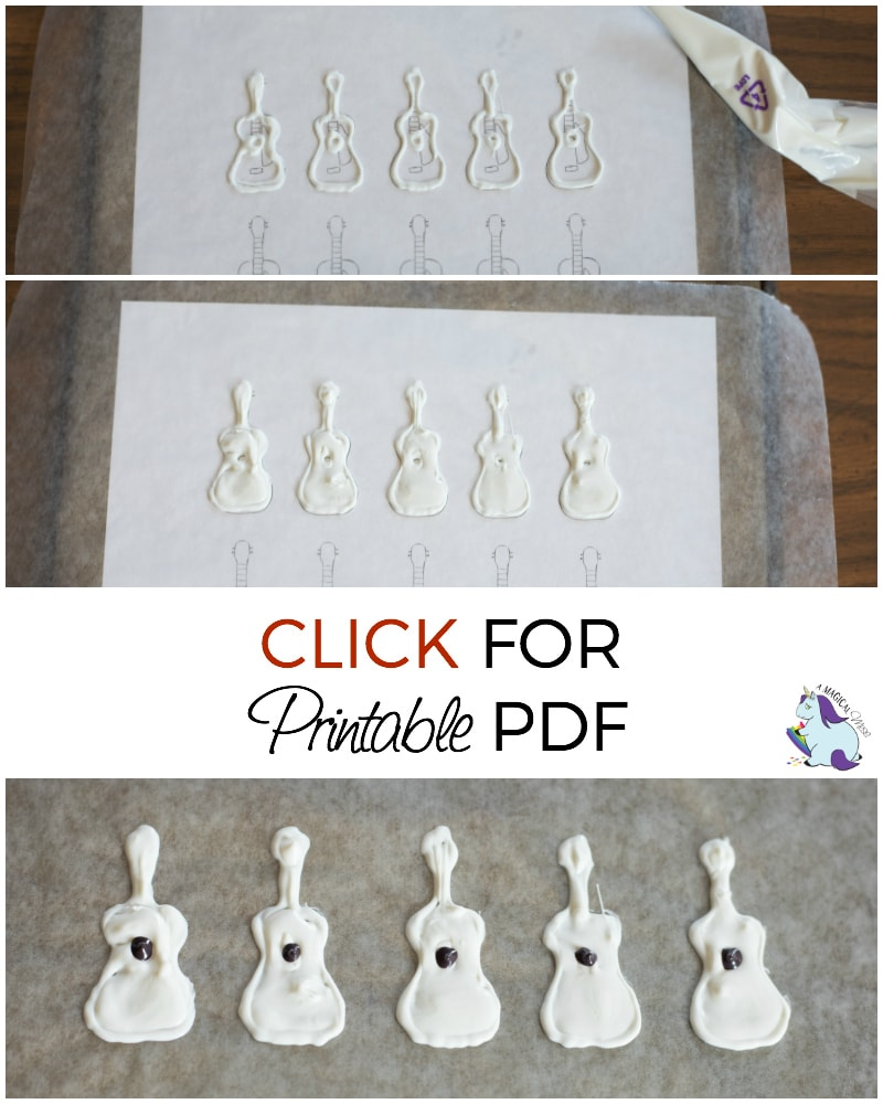 Disney Pixar Coco Guitar Cupcakes Printables