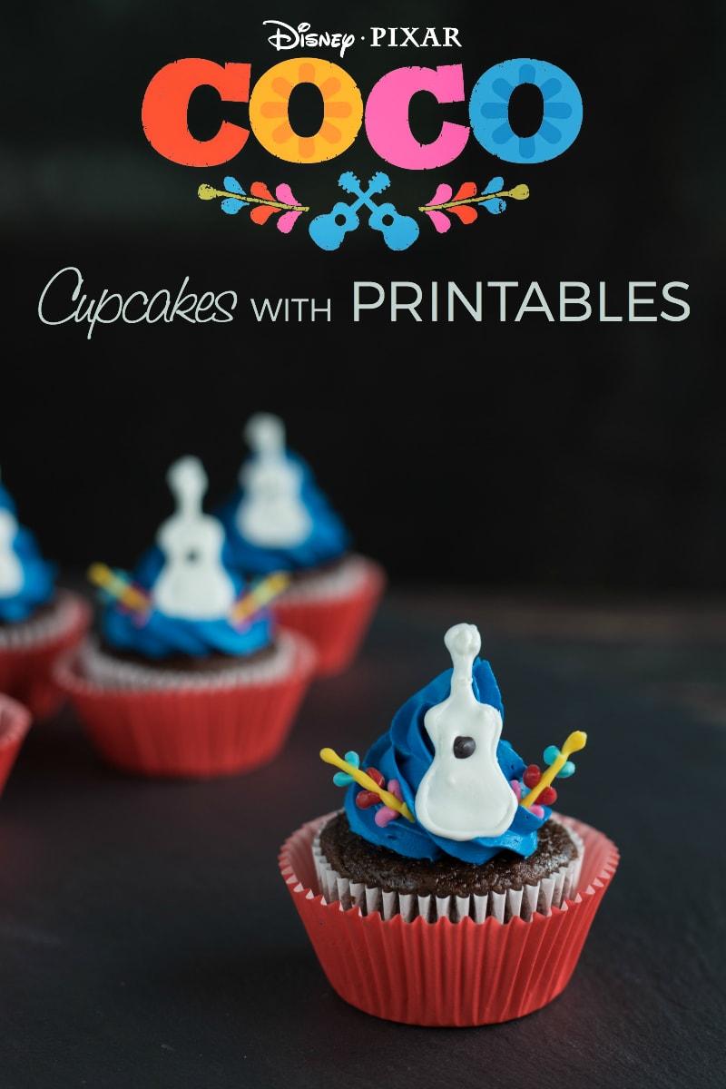Disney Pixar Coco Inspired Guitar Cupcakes