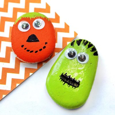 DIY Hand Painted Rocks for Halloween