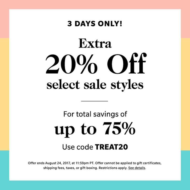 Shopbop 3 day sale