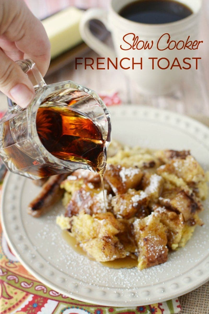 Overnight Crockpot French Toast