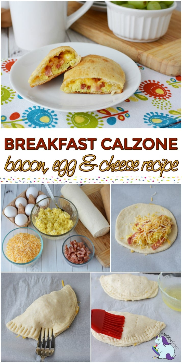 Breakfast Bacon and Cheese Calzone Recipe