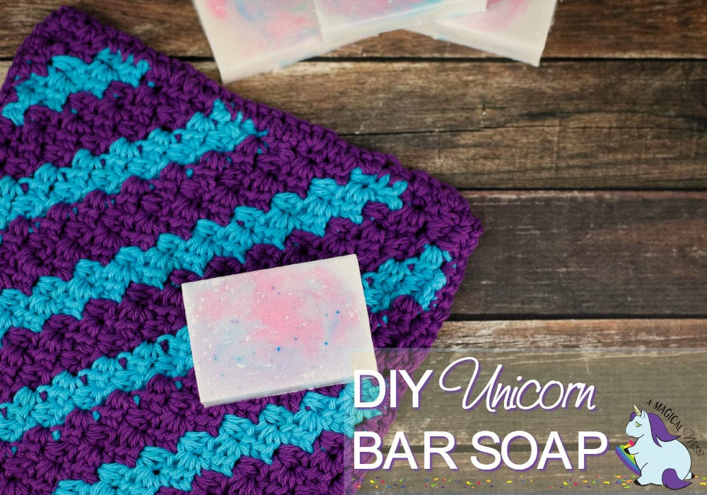 How to Make Homemade Bar Soap - Cotton Candy Unicorn