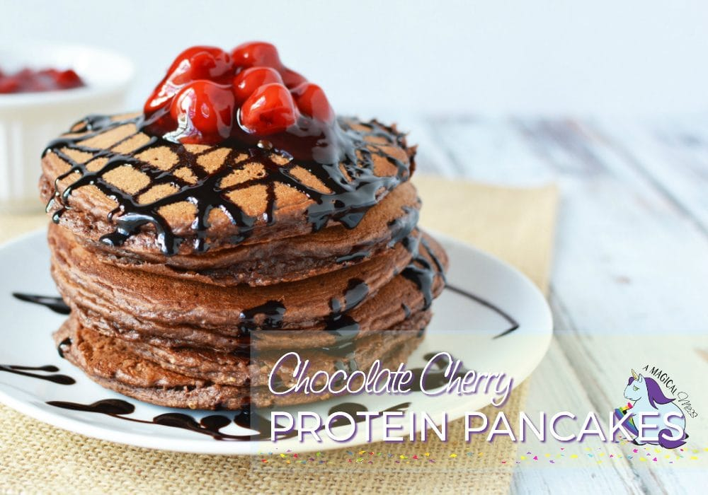 Best Protein Pancakes - 90 Calorie Chocolate Cherry Goodness