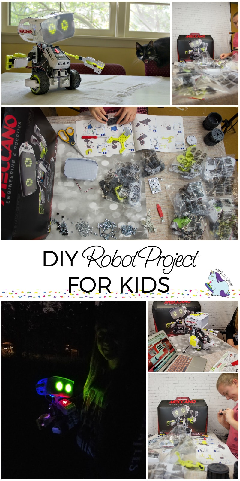 DIY Projects for Kids - The Coolest Robot in Town Meccano M.A.X. #Meccano #MAXRobot AD