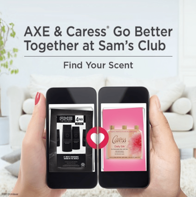 Axe and Caress at Sam's Club