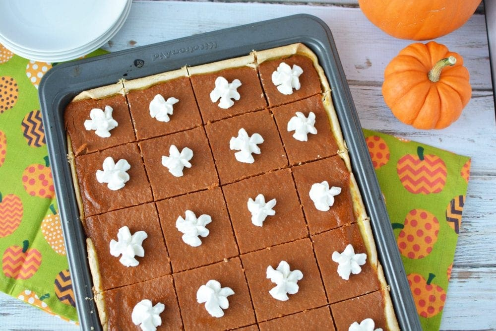 Pumpkin Pie Squares Recipe for Larger Gatherings