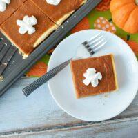 Pumpkin Pie Squares Recipe for Larger Gatherings