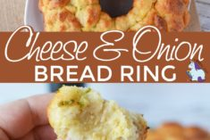 Cheesy pull apart bread ring