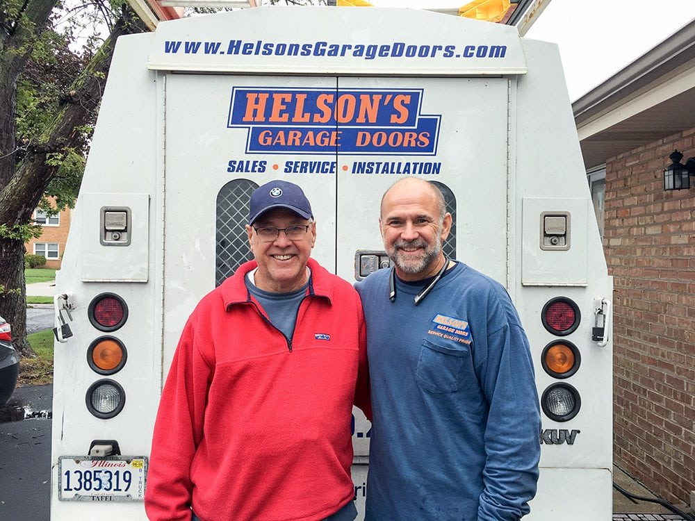 Jack and John Helson of Helson's Garage Doors