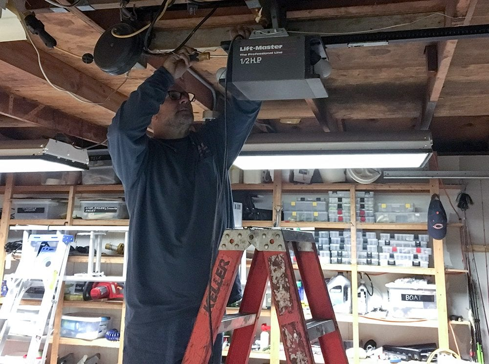 Taking down the old LiftMaster garage door opener