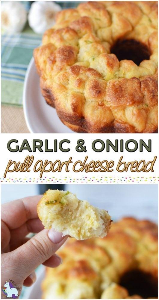 Garlic and Onion Pull Apart Cheese Bread Recipe