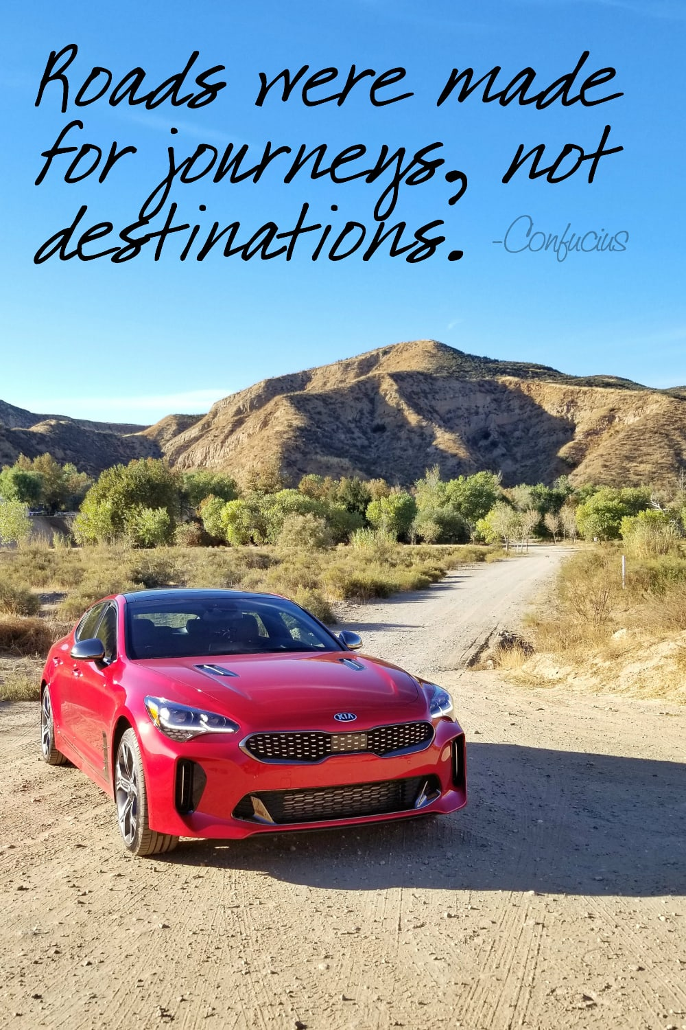 Travel is good for the soul. The Kia Stinger is good for your style, wallet, and esteem. #StingerIsHere #TheNewKia