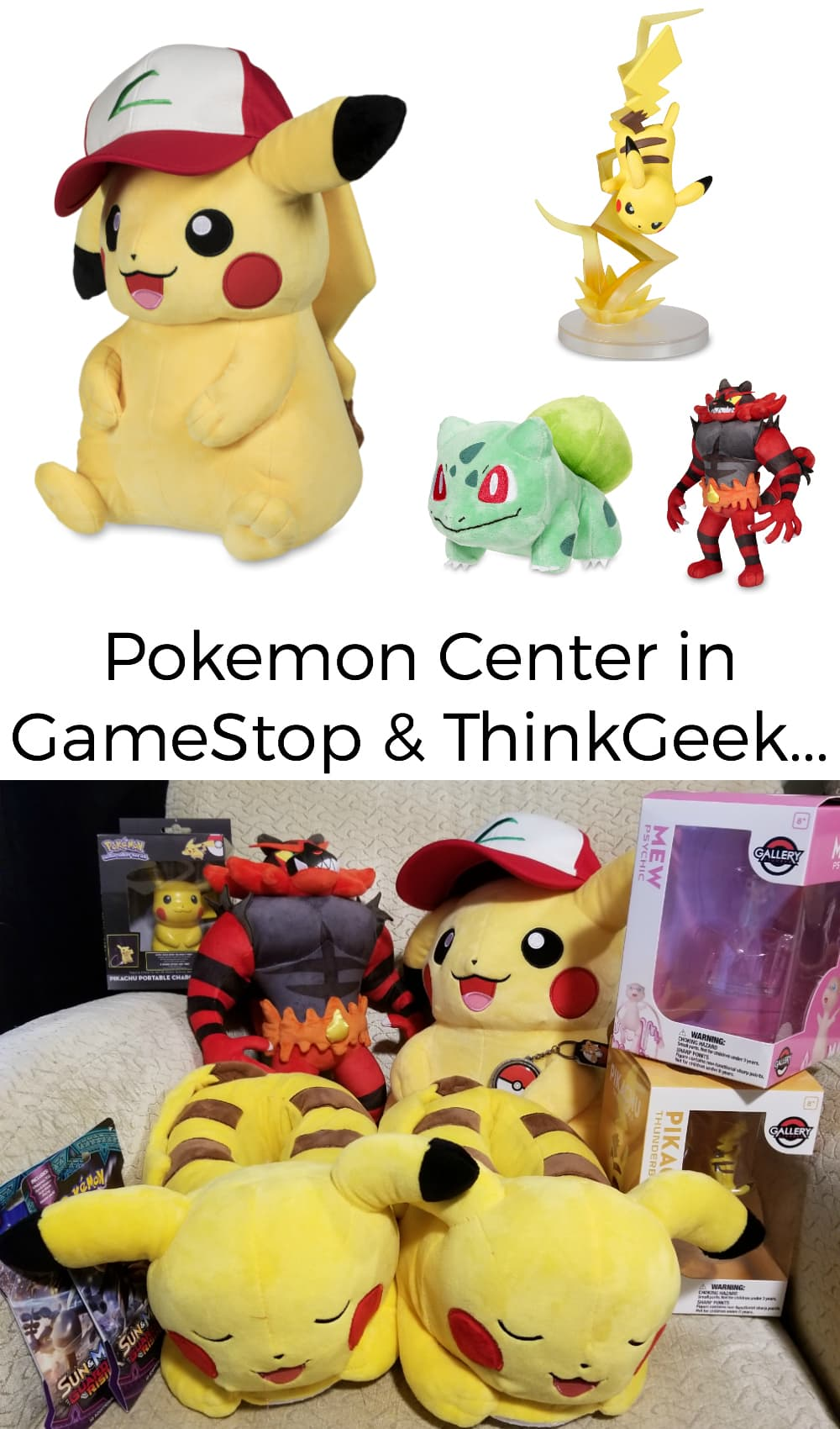 Awesome Pokemon merchandise is now available at GameStop and ThinkGeek in the Pokemon Center! #pokemon #gamestop #gadgets #gamers