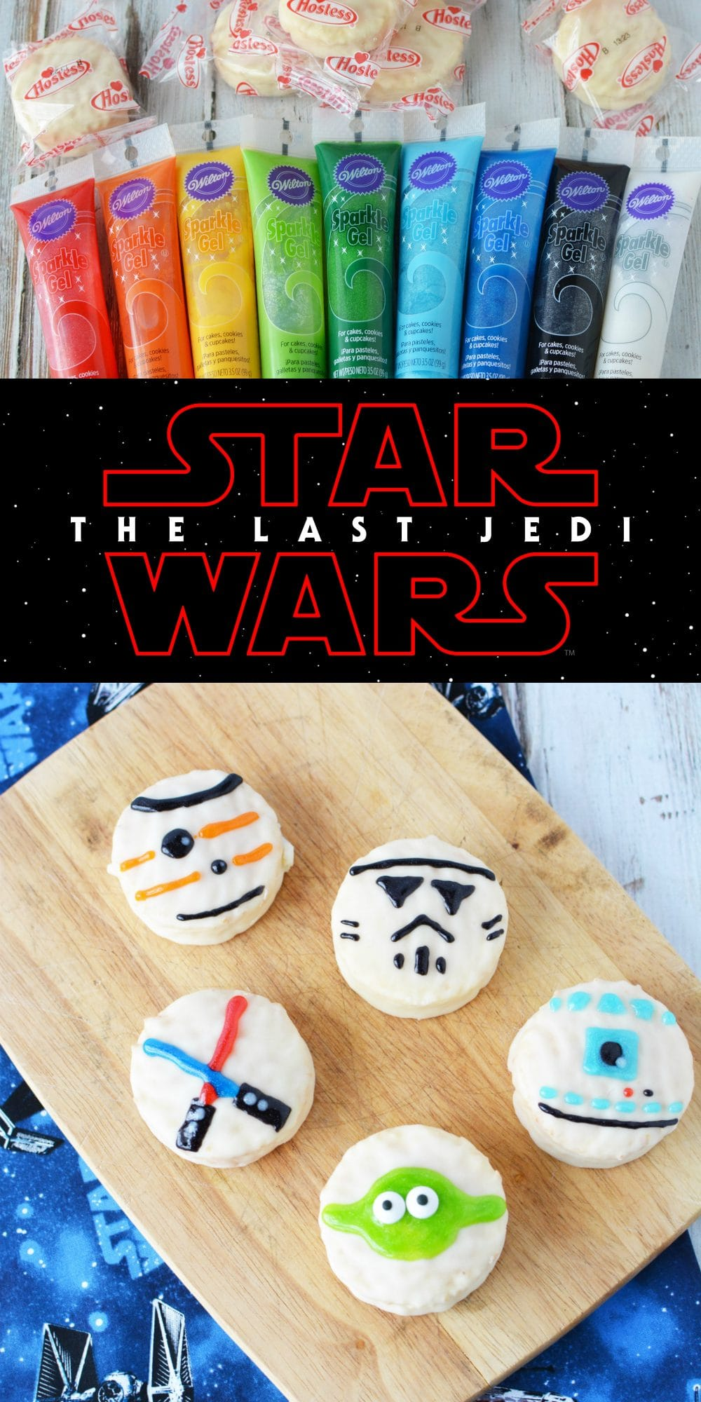 Star Wars Treats decorated Ding Dongs