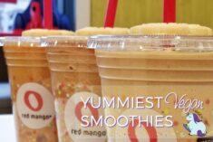 Yummiest Gluten Free and Vegan Red Mango Smoothies