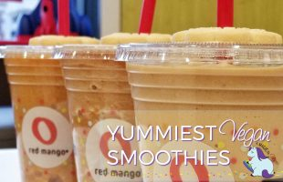 Yummiest Gluten Free and Vegan Red Mango Smoothies #ad