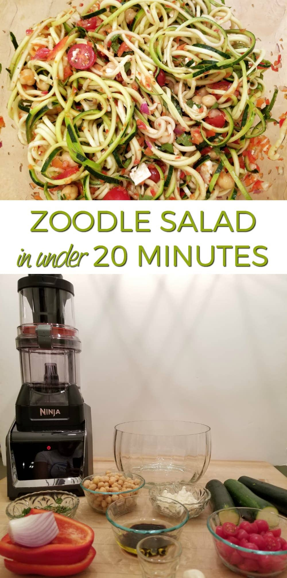 Best Blender for Smoothies and Everything Else - Even Zoodle Salad #NinjaSnapTapGo #NinjaPartner
