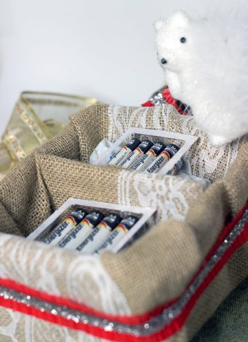 DIY Battery Basket for an Energized Holiday Gathering