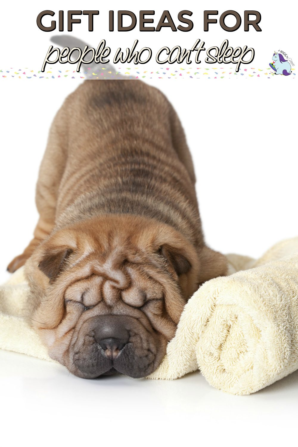 Wrinkly dog who looks sleepy