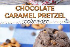 Delicious Chocolate Caramel Pretzel Cookies Recipe