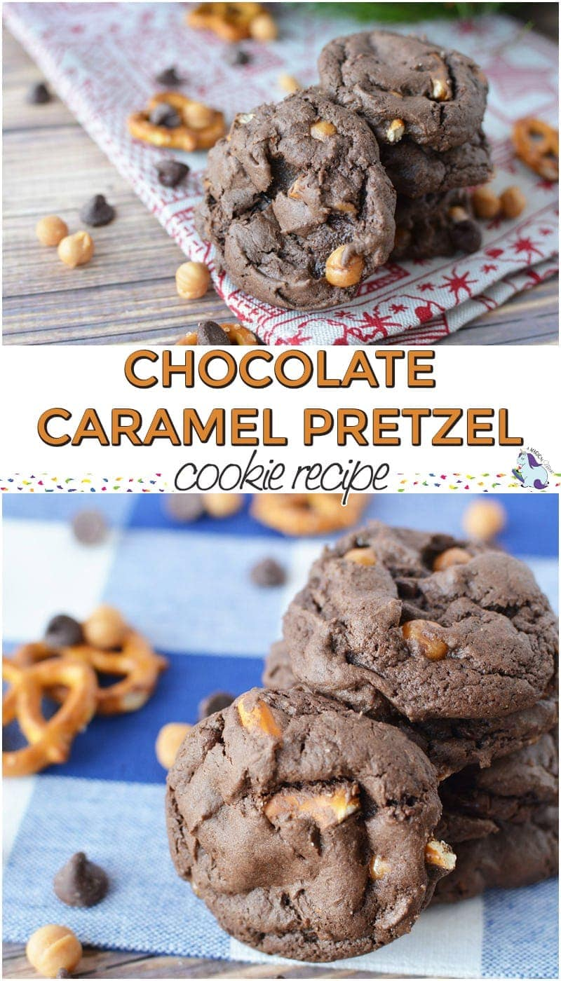 Delicious Chocolate Caramel Pretzel Cookies Recipe