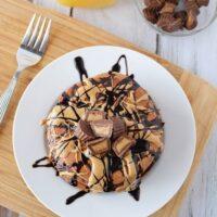 Irresistible Chocolate Peanut Butter Pancakes Recipe