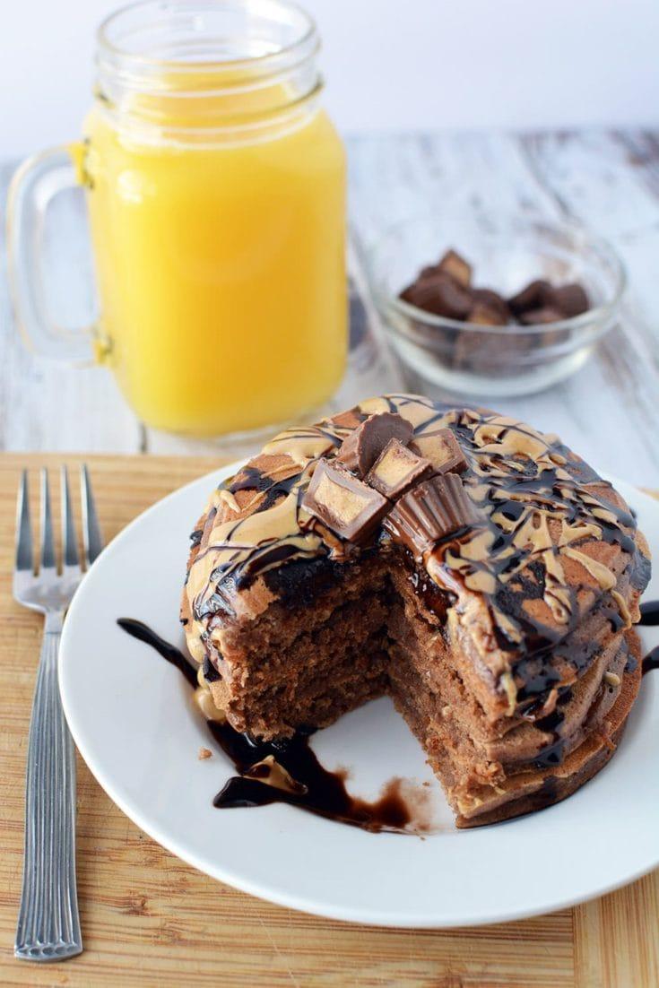Chocolate Peanut Butter Pancakes Recipe