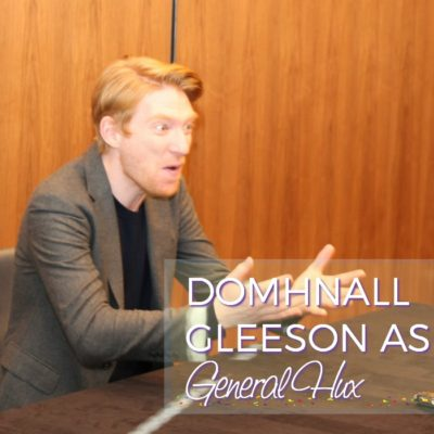 Domhnall Gleeson as General Hux in Star Wars: The Last Jedi
