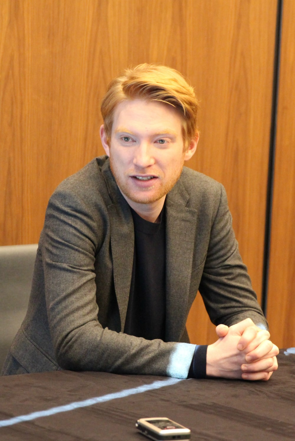 Domhnall Gleeson as General Hux in Star Wars: The Last Jedi