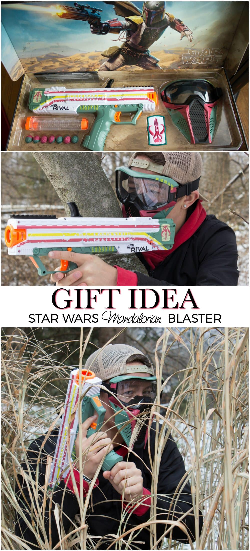 Star Wars Gift Idea - Nerf Rival Apollo XV-700 - Star Wars Mandalorian Edition Blaster and Face Mask - Only at #GameStop #StarWars #TheLastJedi #TheLastJediEvent AD