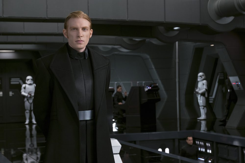Domhnall Gleeson as General Hux in Star Wars: The Last Jedi #TheLastJediEvent