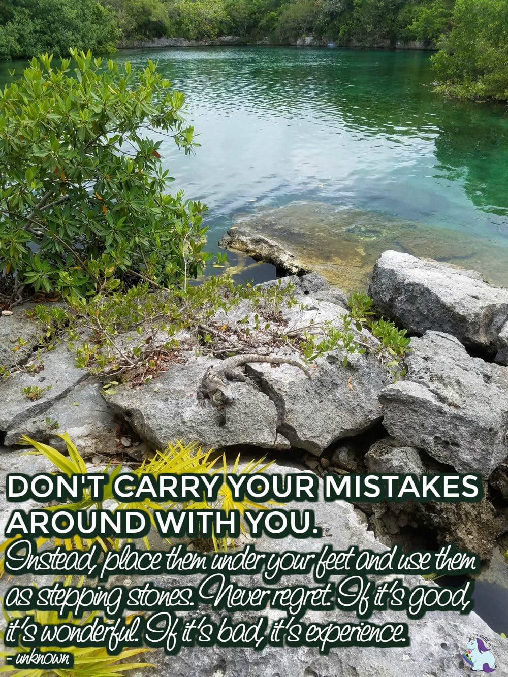 dont carry mistakes around with you