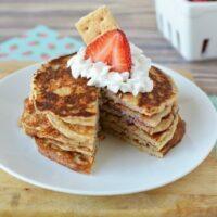 Best Tasting Protein Pancakes - Strawberry Cheesecake