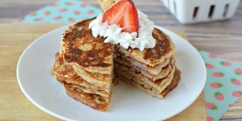 Best Tasting Protein Pancakes – Strawberry Cheesecake