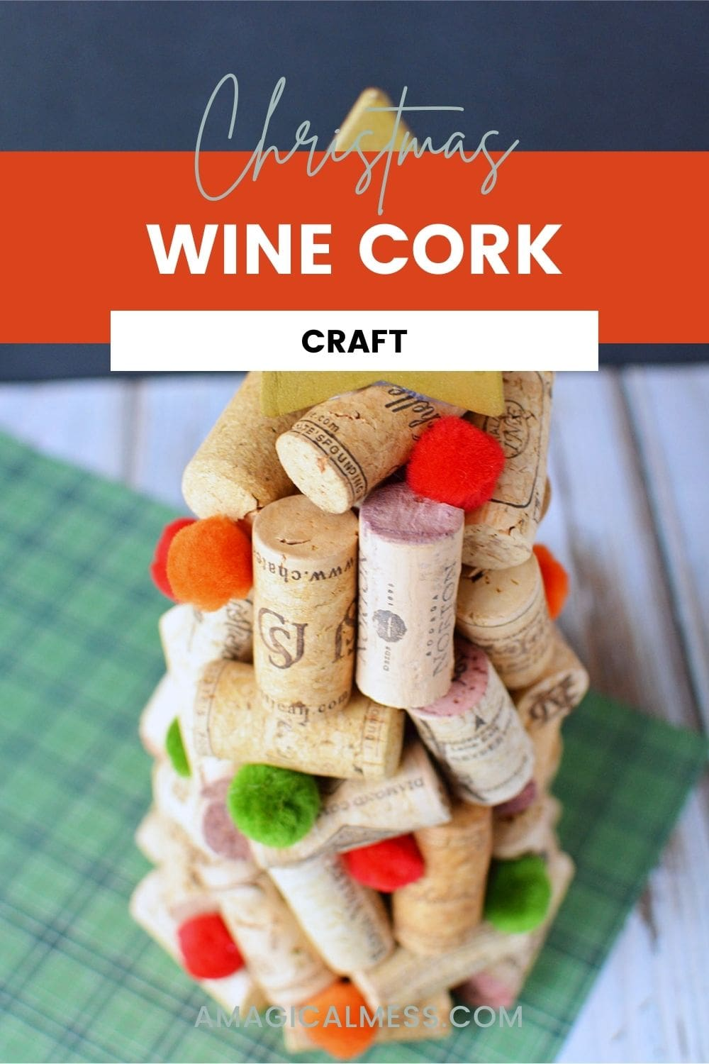 tree made out of wine corks