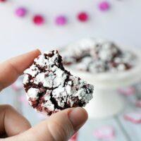 Red Velvet Crinkle Cookie Recipe - Only 4 Ingredients