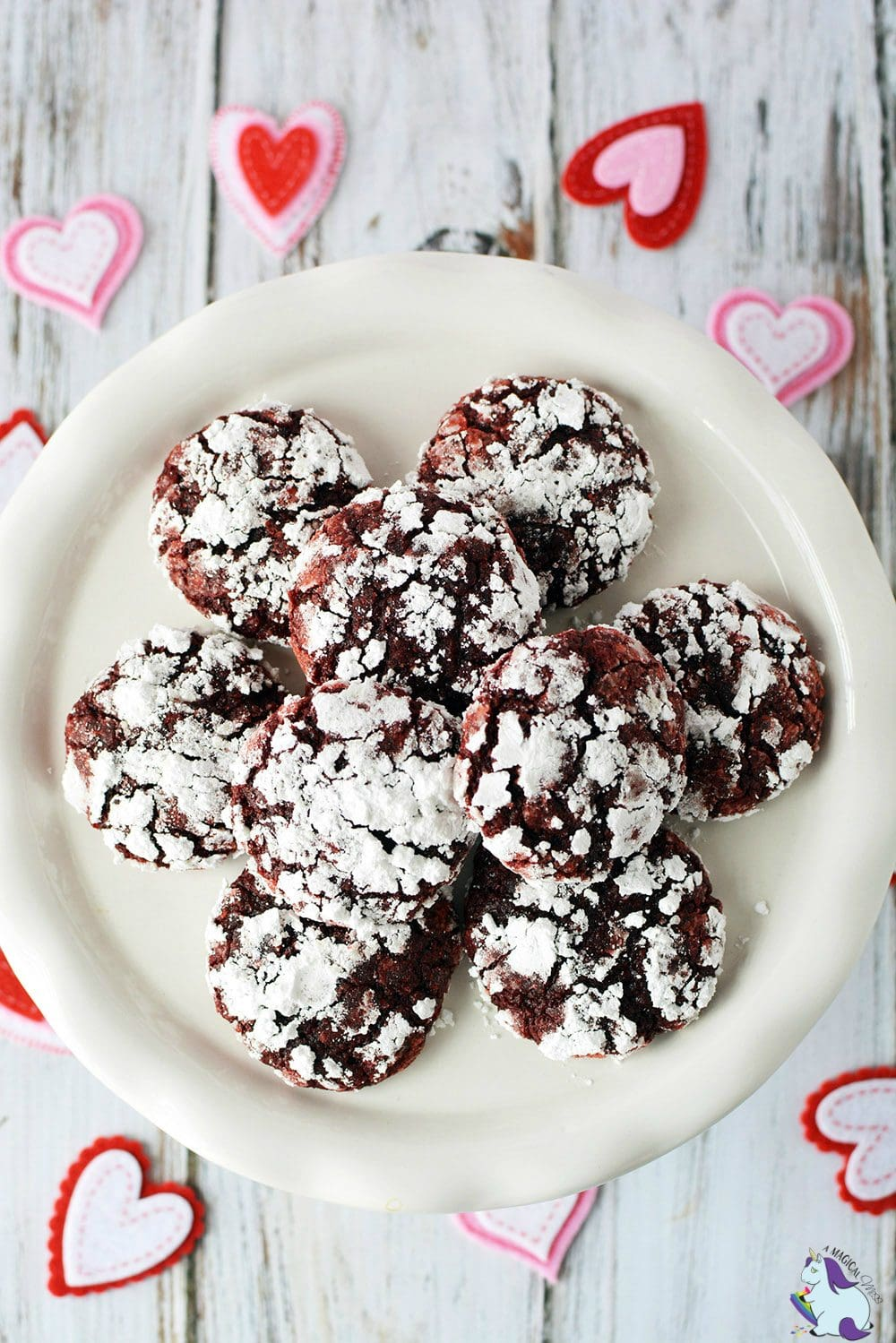 Red velvet crinkle cookies that only take 4 ingredients to make