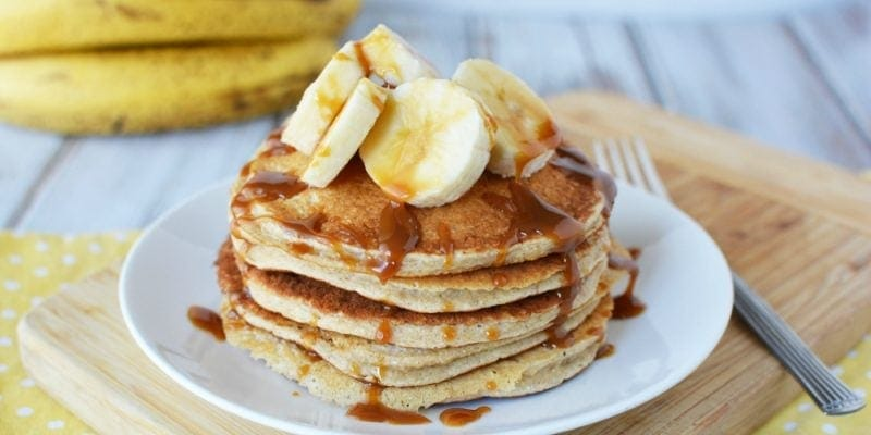 Mouth Watering Caramel Banana Protein Pancake Recipe