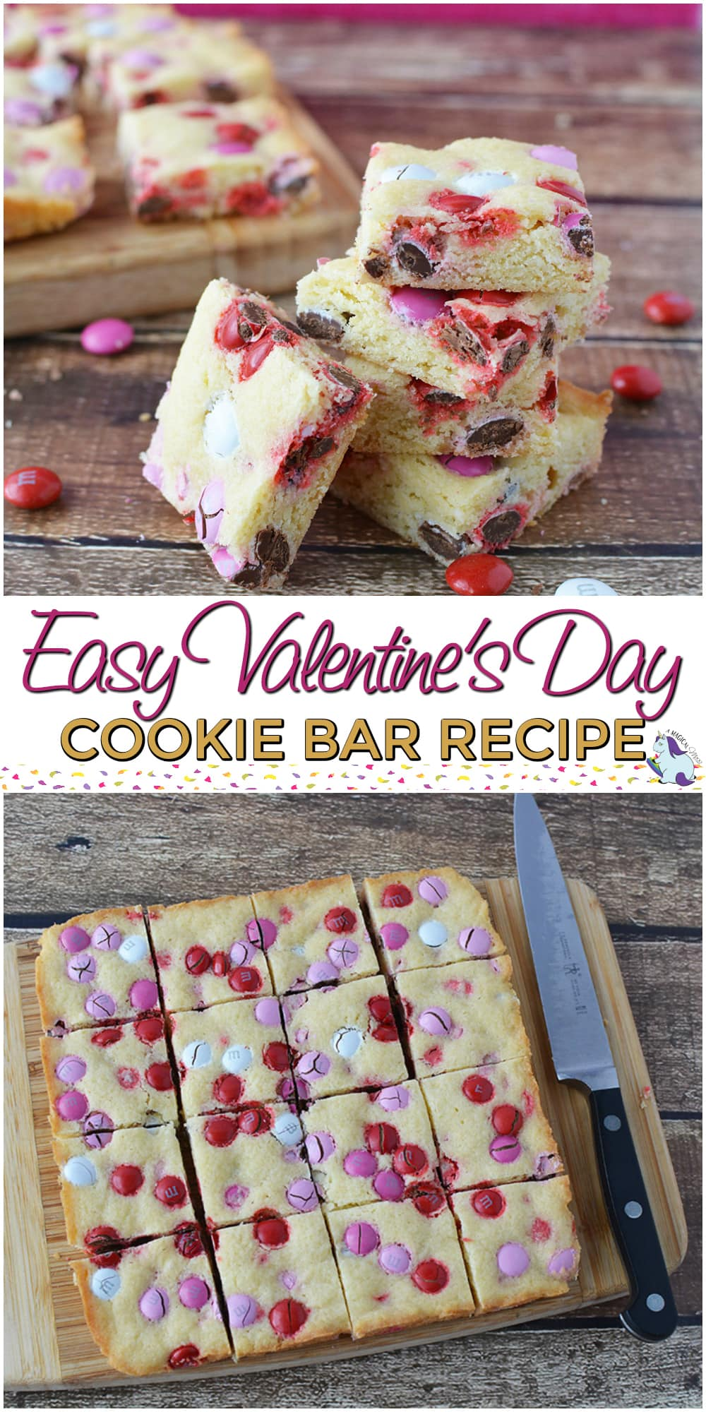 Easy Cookie Bar Recipe that we Love for Valentine's Day #cookies #recipe #valentinesday #easyrecipe #baking