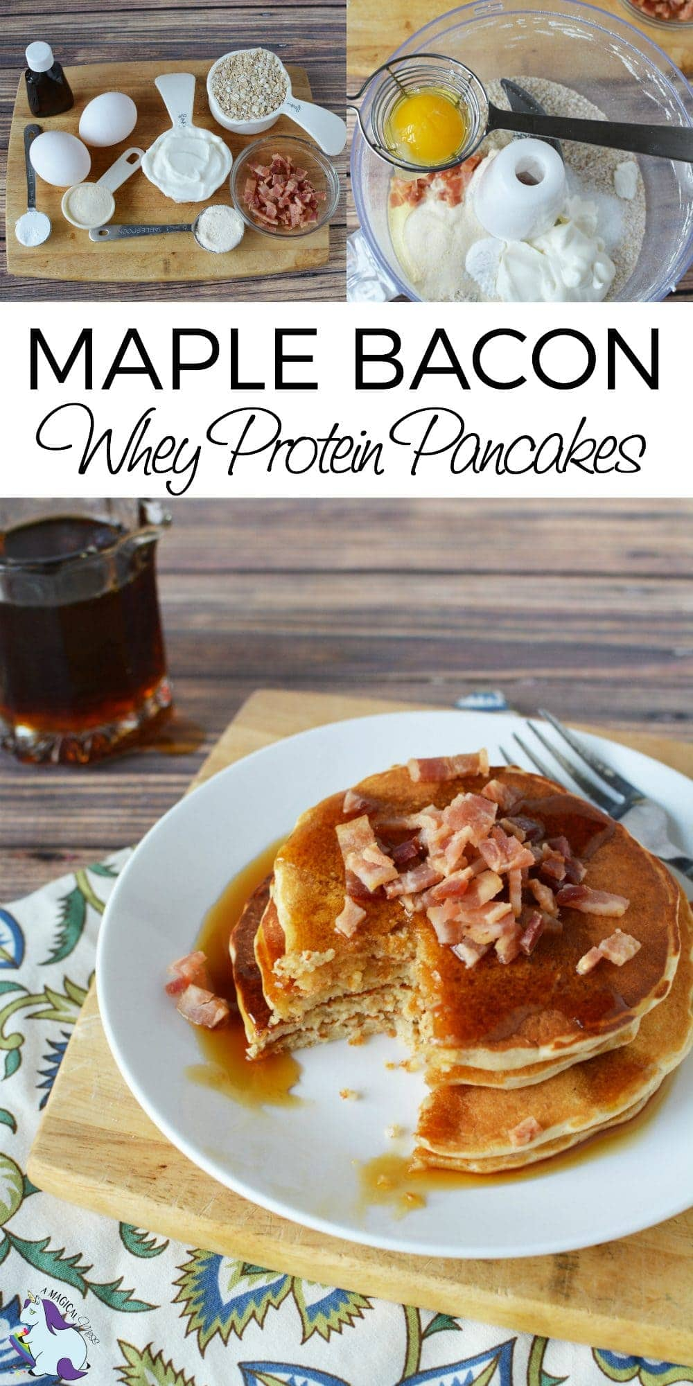 Maple Bacon Whey Protein Pancakes Recipe