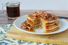 Super Delicious Maple Bacon Whey Protein Pancakes