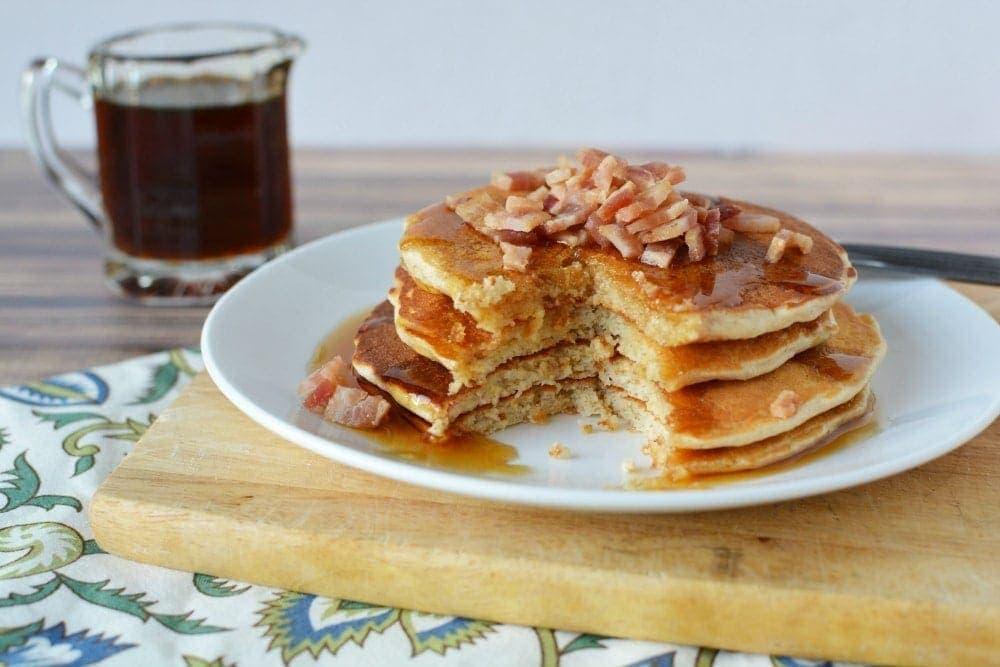 Super Delicious Maple Bacon Whey Protein Pancakes
